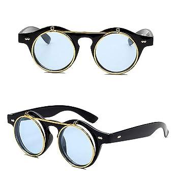 Gafas de Sol SteamPunk Flip UP doble capa con Funda y Gamuza ...