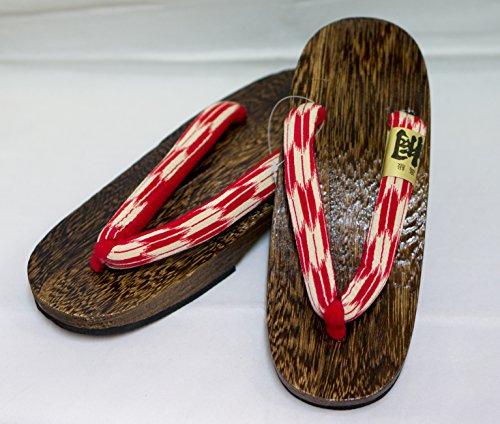 [Japon Made] Geta Paulownia bois Sandals traditionnel Chaussures Yagasuri design Taille M