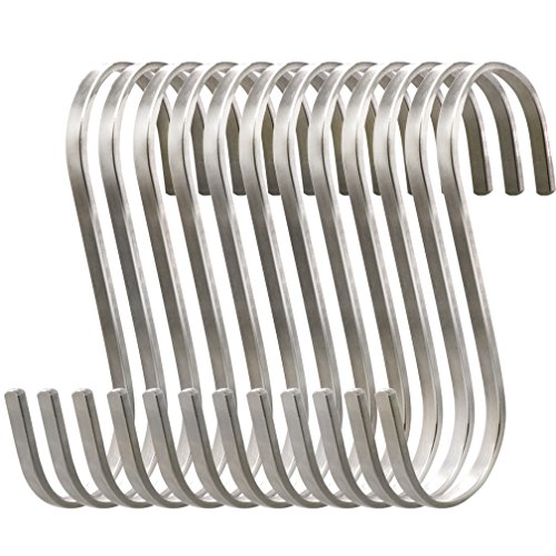 esfun-12-pcs-large-flat-s-hooks-stainless-steel-s-shaped-hooks-for-hanging-pots-and-pans-rack-hanger