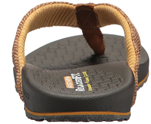 Skechers Men's Relaxed Fit-Velmen-Erever Flip-Flop,Brown,11 M US
