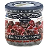 St Dalfour Raisins and Cranberries, 7 Ounce -- 6 per case.
