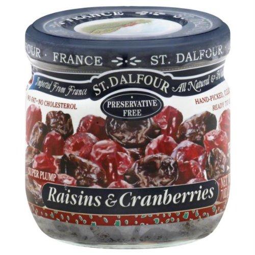 St Dalfour Raisins and Cranberries, 7 Ounce -- 6 per case.