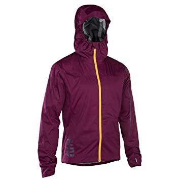 Ion 3 Layer Scrub Amp Damen Fahrrad WindRegenjacke Bordeaux