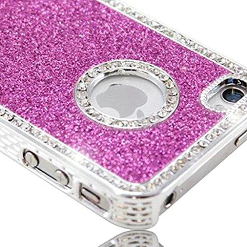 Nouveau iPhone 5s Rose foncé Mousseux Paillettes et Diamanté Studded clip on Dur Coque couverture case cover Pare-chocs par Mobile Case Mate