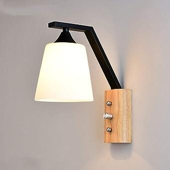 Hba Applique Murale Lampe Murale En Bois Pour Chambres Balcon Chevet