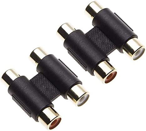 2 conectores RCA hembra a hembra por Keple, adaptador de conector ...