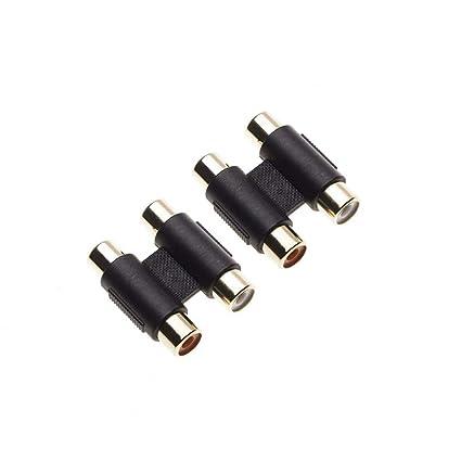 2 conectores RCA hembra a hembra por Keple, adaptador de ...