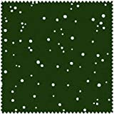 Christmas Classics, White Snow on Dark Christmas Green, Maywood Studio