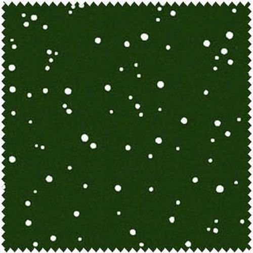 Christmas Classics, White Snow on Dark Christmas Green, Maywood Studio by Christmas Classics
