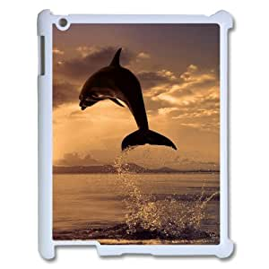 Ipad 2,3,4 2D Personalized Hard Back Durable Phone Case with Dolphin Image