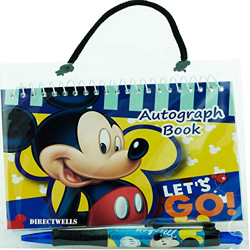 Disney Mickey Mouse Dark Blue Autograph Book with 1 Retractable Pen