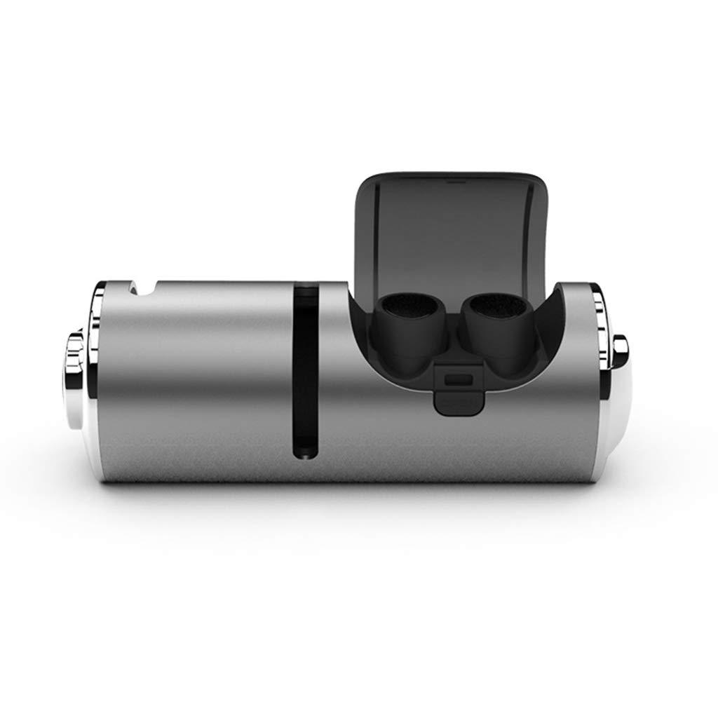 Wireless ear buds マイクロフォンの充電箱が付いている無線TWSブルートゥースのイヤホーンのタッチコントロール3Dステレオ (Color : Silver) B07TQSLNDD Silver