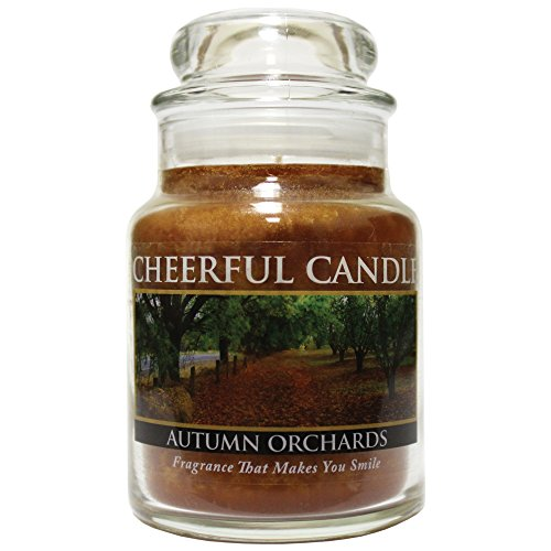 Orchard Pillar Candle - A Cheerful Giver Autumn Orchards Jar Candle, 6-Ounce