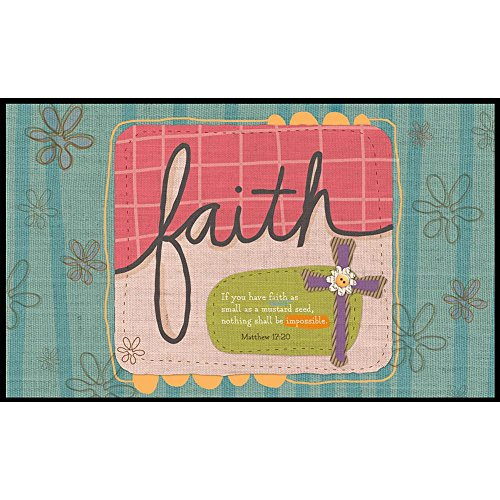 Lang Sufficient Faith Door Mats Holli Conger, 18 x 30 inches (3210015) by Lang