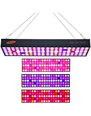Mainstayae 600W LED Grow Light LED Panel Growing Light Full Spectrum for Hydroponic Greenhouse Indoor Plant Seedling Flower Vegetative Growth