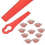 KINWAT 50pcs Plastic Trimmer Blades Replacement Grass Trimmer Blades for Grass Cutter Garden Tool Parts(Random Color)