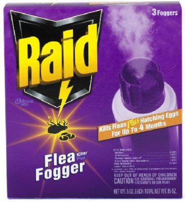 HOME-APP S C Johnson Wax Raid3pk 5Oz Flea Fogger 41654 Flea & Tick Killer Garden, Lawn, Supply, Maintenance
