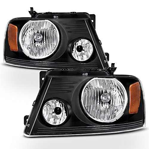 ACANII - For [Harley-Davidson Style] 2004-2008 Ford F150 06-08 Mark LT Headlights Headlamps Driver + Passenger Side