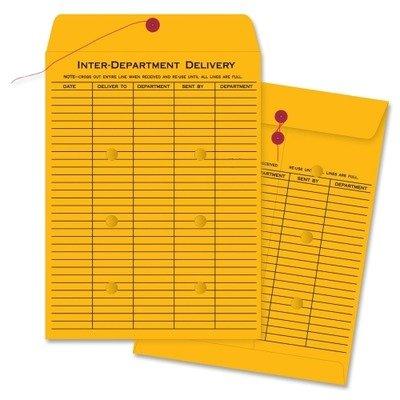 Business Source 42255 Interdepartmental Envelope - 10amp;quot; x 13amp;quot; - 28lb - String/Button - Kraft - 100 / Carton - Kraft