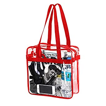 f4e806a10011 NFL   PGA Compliant Clear Stadium Security Zippered Shoulder Bag Travel    Gym Tote By Bags For Less - Sturdy PVC Construction- 12