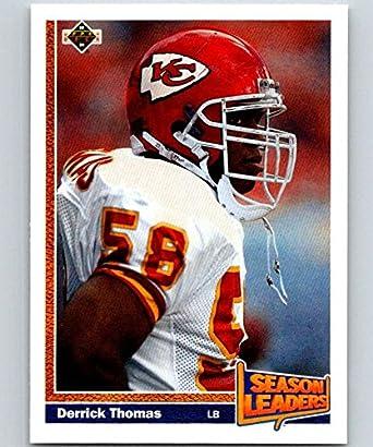 newest 7d321 9f02d Amazon.com: Football NFL 1991 Upper Deck #404 Derrick Thomas ...