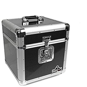 Gorilla GC-LP100 100x 12″ Vinyl Record Box (Carbon Fibre Style))
