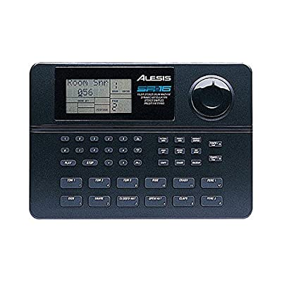 Alesis SR16 | Classic 24-bit Stereo Electronic Drum Machine with Dynamic Articulation + 1/8 Inch TRS to Dual 1/4 inch Cable + MIDI Cable + Strapeez - Top Value Alesis Accessory Bundle! from Alesis