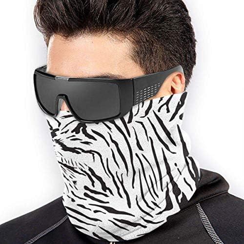 Bandana a bandana con motivo tigre, protezione completa, traspirante, rinfrescante, in tessuto di seta, protezione dai raggi UV, per uomini e donne