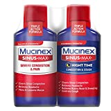 Severe Congestion & Pain Relief, Mucinex Sinus-Max Max Strength, 12oz (2x6oz) Clears Sinus & Nasal Congestion, Relieves Headache & Fever, Thins & Loosens Mucus