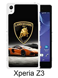 Lamborghini logo 1 White Sony Xperia Z3 Screen Phone Case Handmade and Charming Design