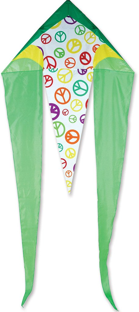 Premier 33031 45-inch flo-tail Delta Kite withファイバーグラスフレーム、ライムPeace B003CJIEOU