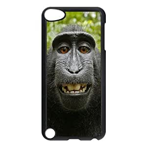 Diy Lovely Monkey Phone Case for ipod touch 5 Black Shell Phone JFLIFE(TM) [Pattern-4]