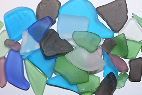 Salty Pelican Volume Priced Seaglass Satin Smooth Finish Machine Tumbled Average size is 1/4 inch to 2 inches + Mix 10 pounds