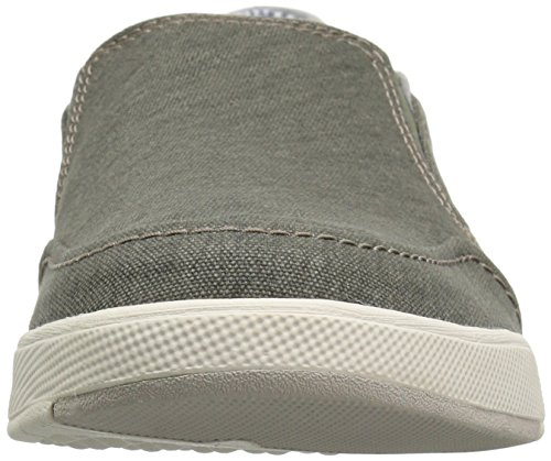 CLARKS Mens Step Isle Slip Loafer, Khaki Canvas, 10 Medium US