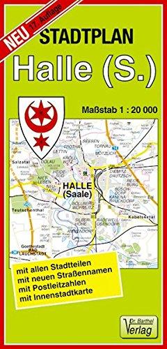 Stadtplan Halle  Saale   Maßstab 1 20000