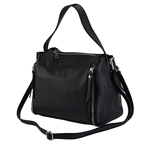 Tracolla Mano Giuseppina Borsa A 9110 Con Italy In Nero Florence Leather Made Market ICwqTq0R