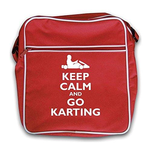 Calm Karting Go Black Retro Red Bag Flight Keep and SwqdtOO