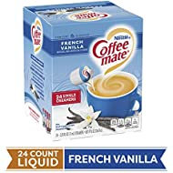 Coffee Mate Coffee Creamer Liquid Singles, French Vanilla, 24 Count, Pack of 4