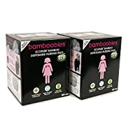 bamboobies Disposable Nursing Pads for Breastfeeding, 120 Breast Pads