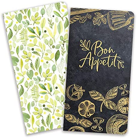 Paper House Productions JBB0003 Meal Planning JourneyBook Insert Set for Standard Size Travelers Notebook Themed Content