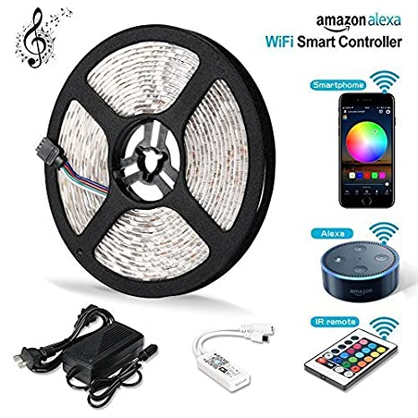 Amazon litake led strip lights wifi wireless smart phone app litake led strip lights wifi wireless smart phone app controlled light strip kit 164ft aloadofball Images