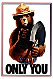 """TODAY'S SPECIAL! Smokey Bear All Weather Metal Sign! Officially Licensed Product! 8""""x12"""" Made In Hawaii USA U.S. Forest Service."""