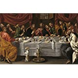 Canvas Prints Of Oil Painting ' Tristan Luis La Ultima Cena Ca. 1620 ' , 8 x 12 inch / 20 x 31 cm , High Quality Polyster Canvas Is For Gifts And Basement, Gym And Study Room Decoration, easy