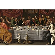 polyster Canvas ,the Imitations Art DecorativePrints on Canvas of oil painting 'Tristan Luis La Ultima Cena Ca. 1620 ', 10 x 15 inch / 25 x 39 cm is best for Wall art decor and Home decoration and Gifts