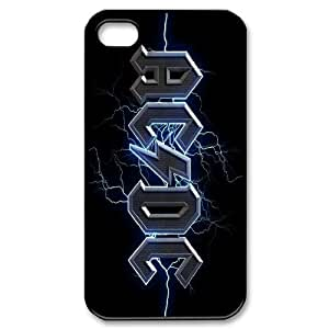 ACDC Pattern Plastic Hard Case For Iphone 4 4S case cover GHLR-T418556