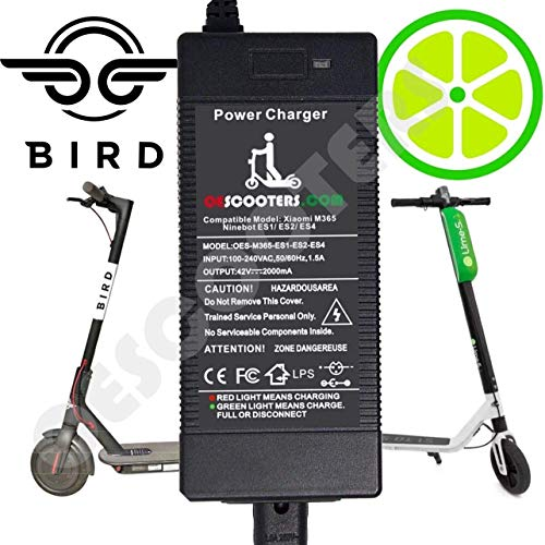 Price comparison product image Qiaoden Lime Scooter Power Charger - Portable Xiaomi Mijia M365 Electric Scooter Battery Charger Ninebot ES1 ES2 ES4