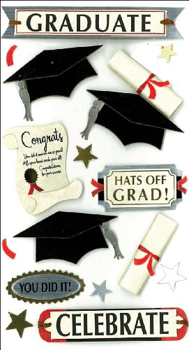Jolee's Boutique Dimensional Stickers, Graduate Celebrate