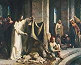 Carl Bloch - Christ Healing the Sick at Bethesda, Size 20x24 inch, Poster art print wall décor
