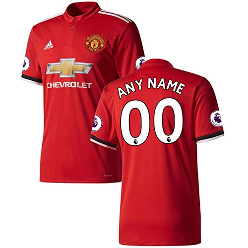 ited 2017/18 Home Any Name Any Number Custom Jersey - Red (Medium) (Climacool Custom Jersey)