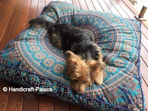Cuadrados palabra almohada elefante Mandala Indian Cushion Floor Funda de almohada Sham Floor Otomano Pouf Oversized sofá...